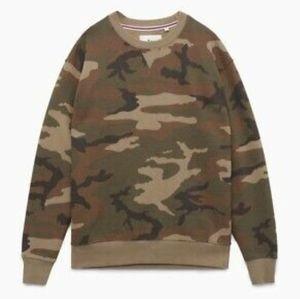 Aritzia Camo Crew neck sweatshirt
